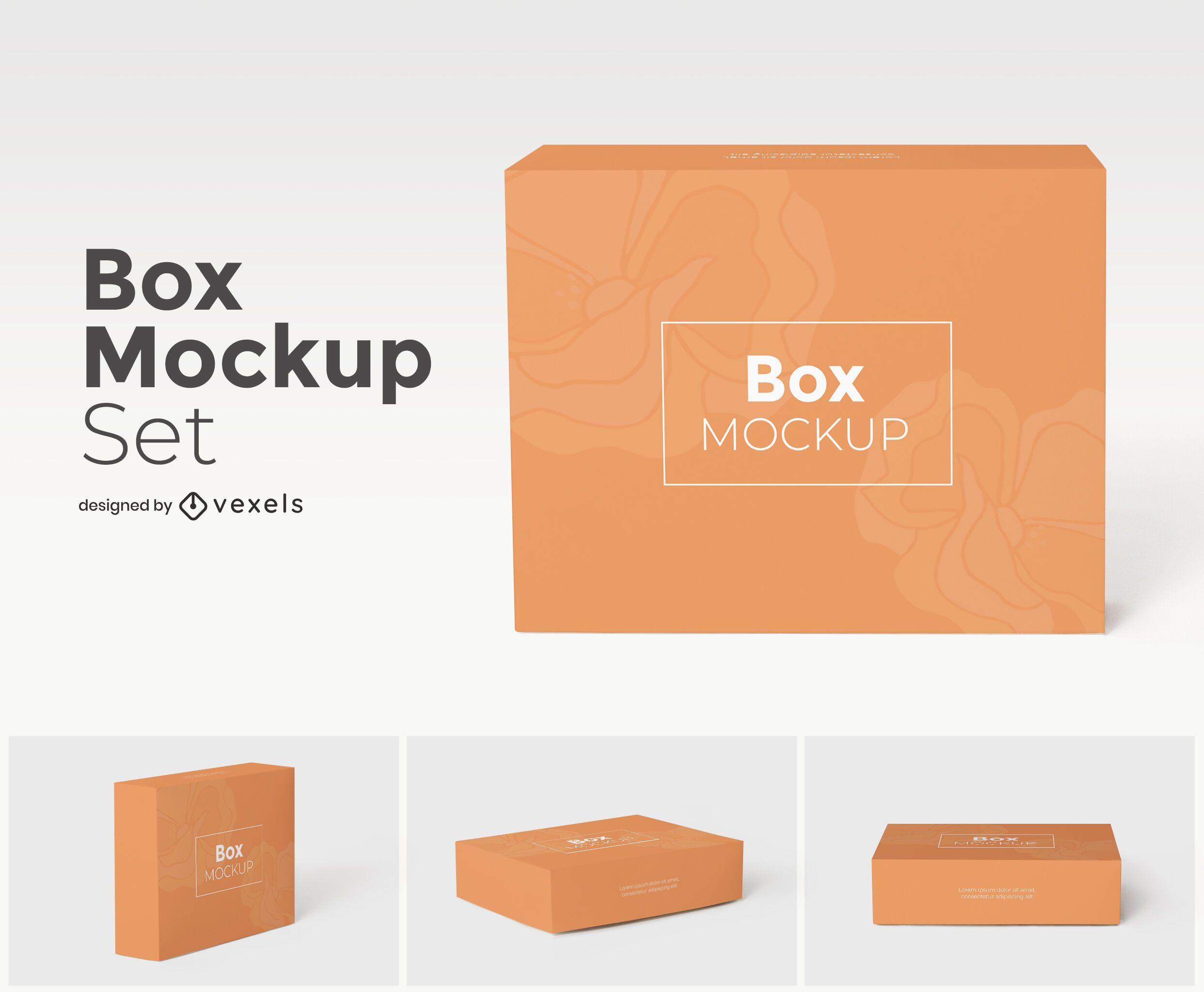 Box mockup set design