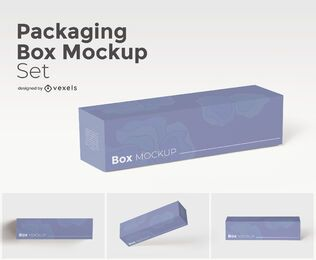 Large box mockup set