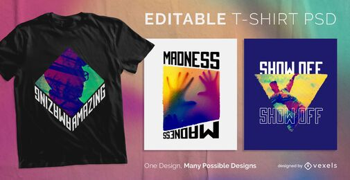 Camiseta escalable CMYK psd