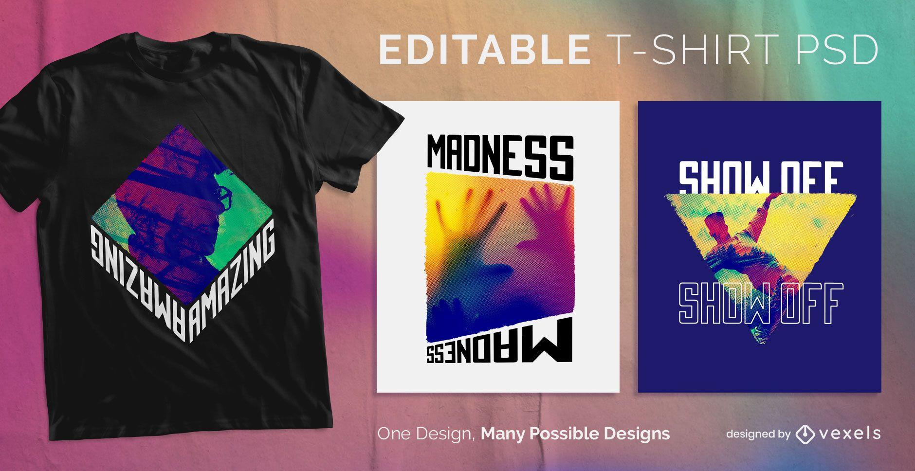 CMYK scalable t-shirt psd