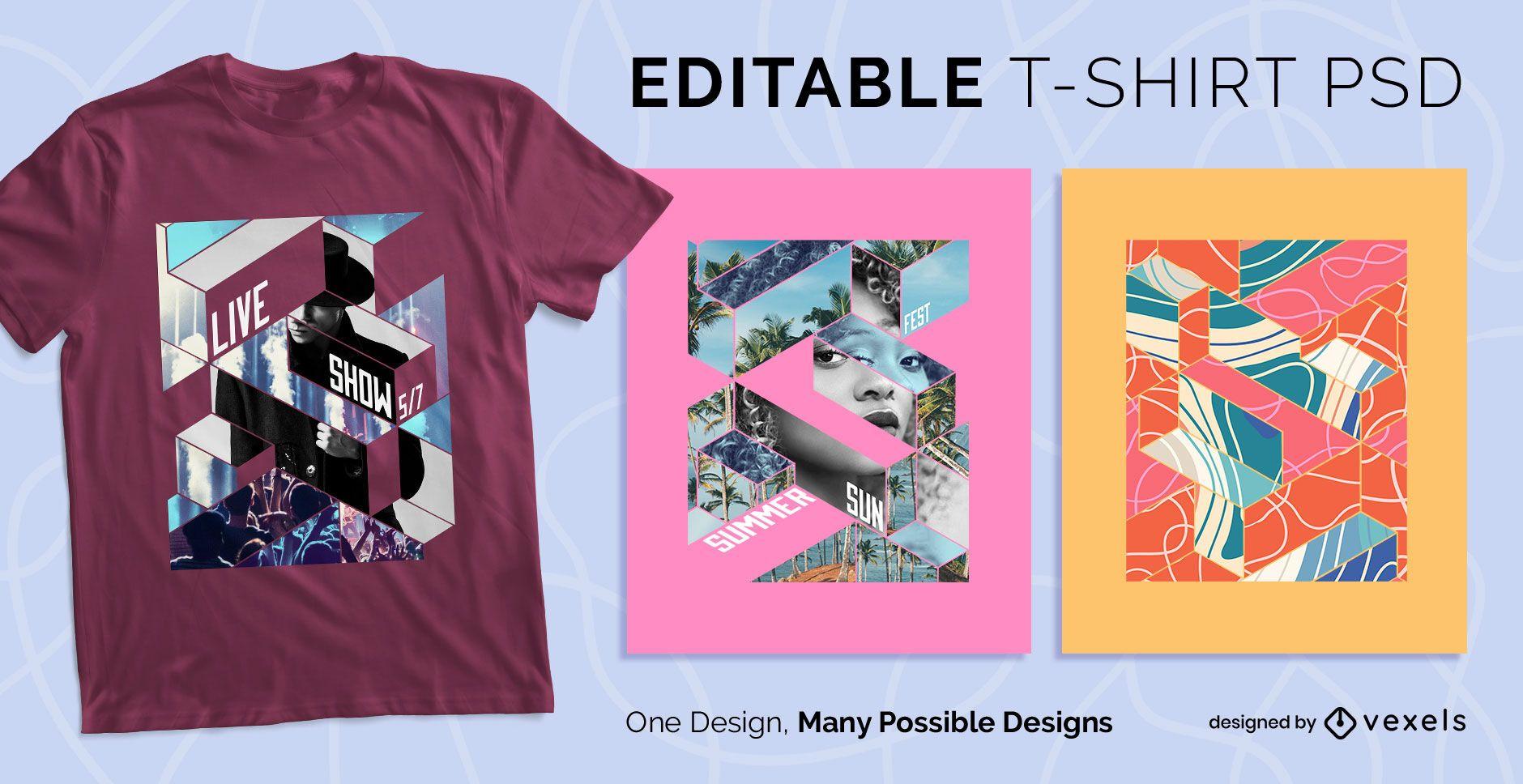 Geometric scalable t-shirt psd