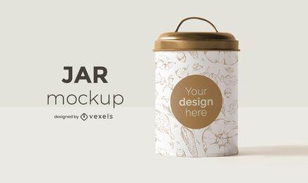 Jar mockup design