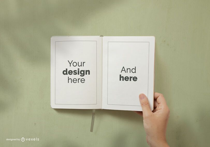 Notebook pages mockup design