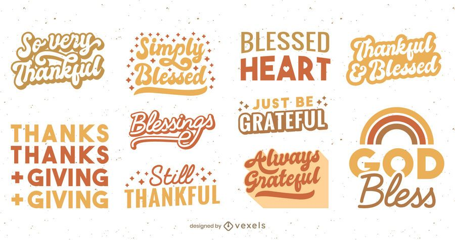 Thanksgiving lettering set