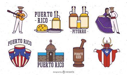Puerto rico elements set