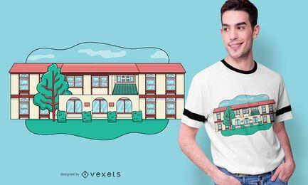Modernes Haus T-Shirt Design