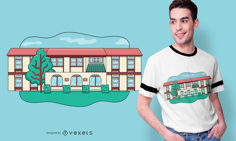 Modern House T-shirt Design