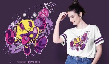 Design de t-shirt comedor de comprimidos