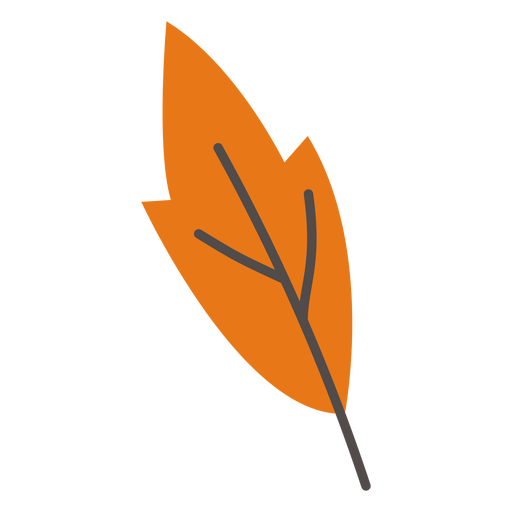 Autumn leaf decoration flat