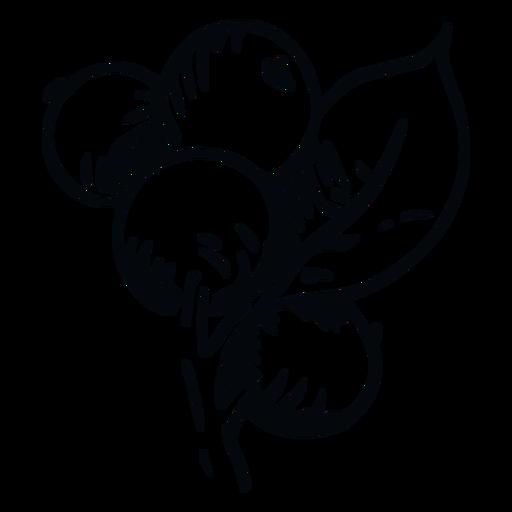 Ilustración de bayas en blanco y negro