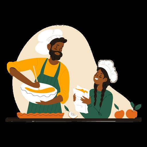 Car?cter de cocina de hombre y mujer negros