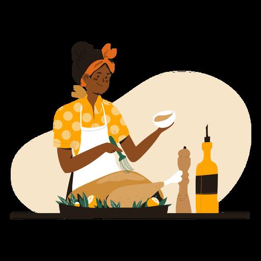 Personaje de cocina de mujer negra