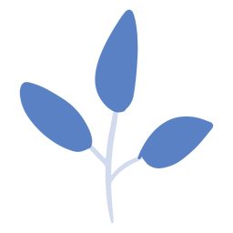Blue plant branch flat