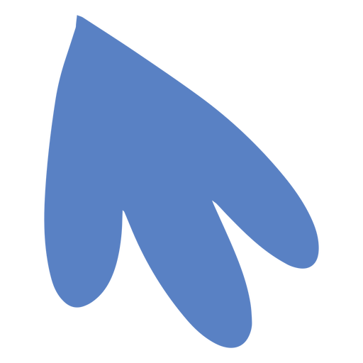 Blue rounded leaf silhouette