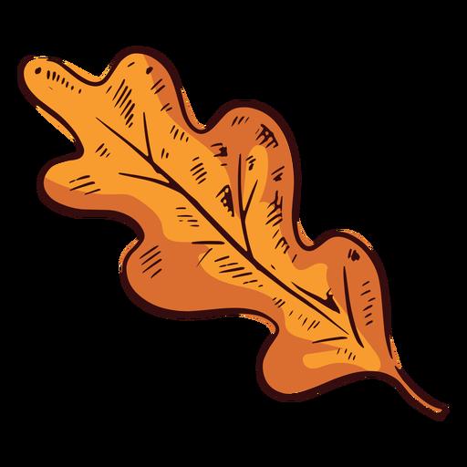 Ilustración de hoja redondeada marrón