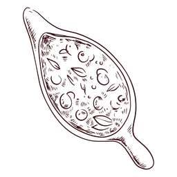 Dibujado a mano salsa de arándanos