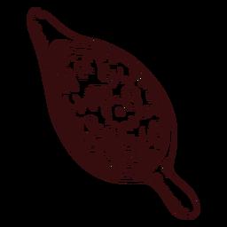Molho de cranberries desenhado à mão