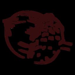Bolota de outono desenhada à mão