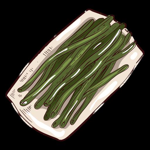 Green beans illustration