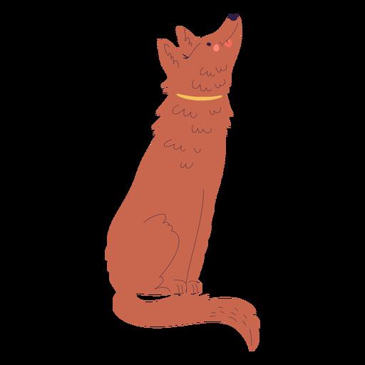 Ilustraci?n de perro sentado feliz