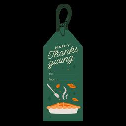 Happy Thanksgiving Kuchen Tag