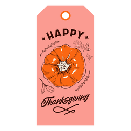 Happy thanksgiving pumpkin tag