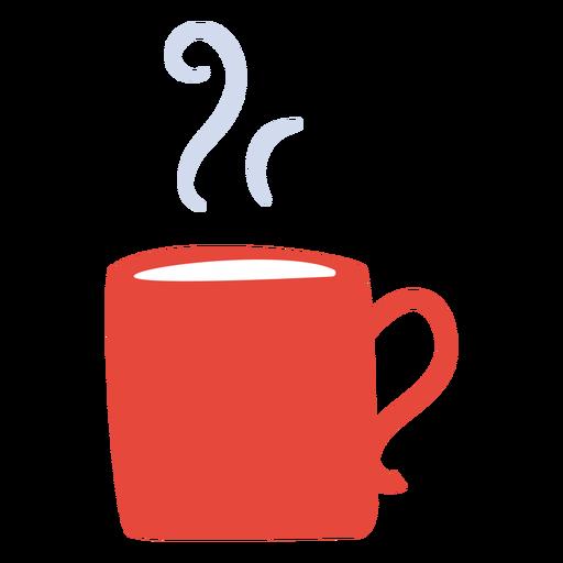 Hot beverage mug flat