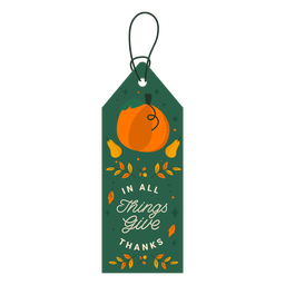 In all things give thanks tag