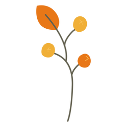 Leaves decoration branch flat