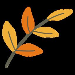 Decoración de hojas planas