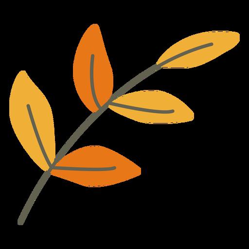 Leaves decoration flat