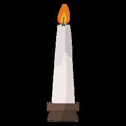 Lit candle flat