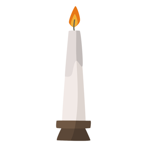 Lit candle flat Transparent PNG