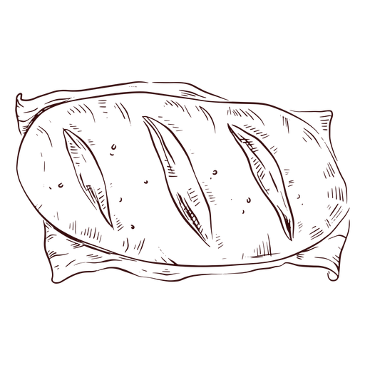 Loaf of bread hand drawn Transparent PNG