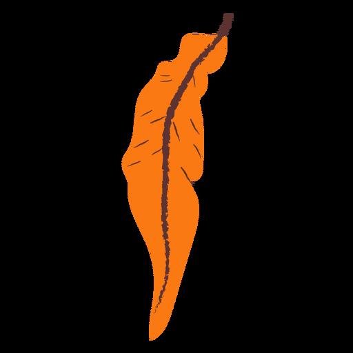 Dibujado a mano hoja naranja