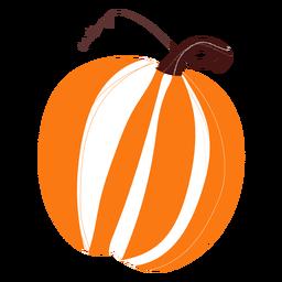 Orange pumpkin hand drawn