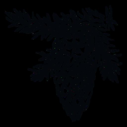 Ilustración en blanco y negro de piña