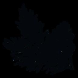 Ramo de pinha preto e branco
