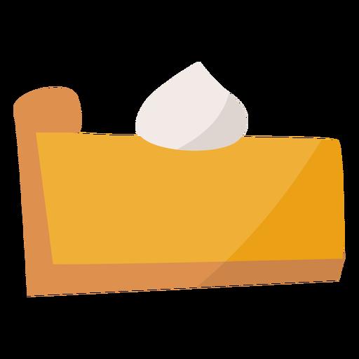 Pumpkin pie slice flat