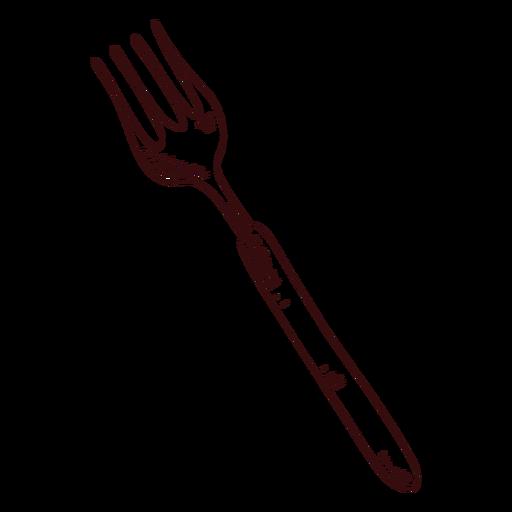 Sharp fork hand drawn
