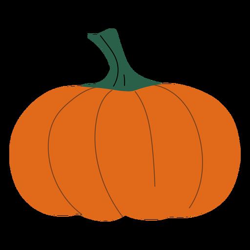 Einfache orange Kürbis flach