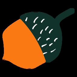 Dibujado a mano árbol simple bellota