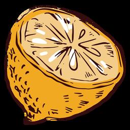 Sliced lemon illustration