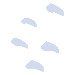 Pegadas de neve desenhadas à mão