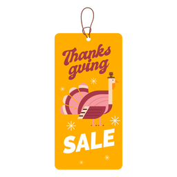 Thanksgiving sale turkey tag