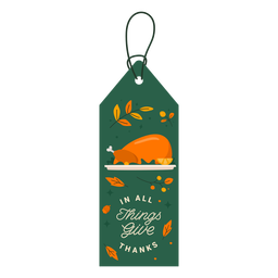Turkey gratitude tag