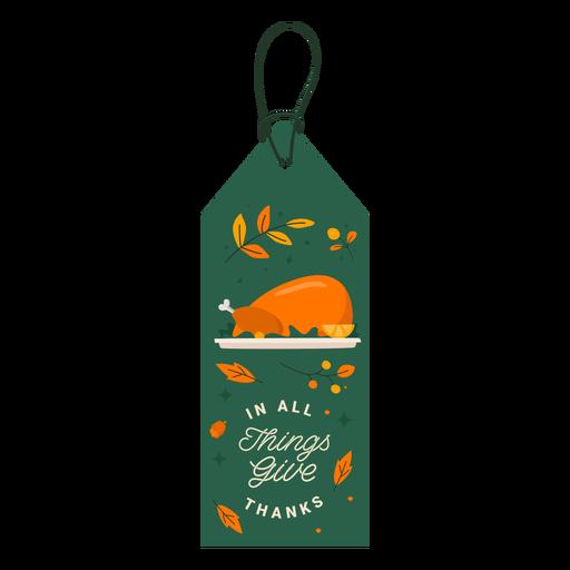 Turkey gratitude tag