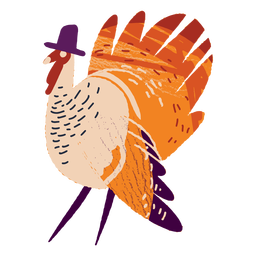 Turkey wearing a hat textured