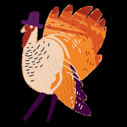 Turquía con un sombrero con textura