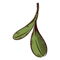 Two leaves decoration illustration